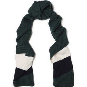 SANDRO Eileen striped ribbed wool scarf